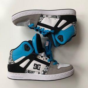 RARE DC Rebound Black Multi High Top Sneakers
